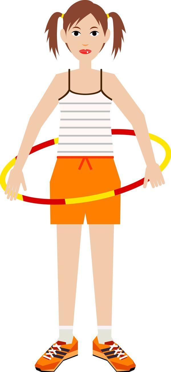标题插画-休闲运动 健身圈 休闲项目 健身