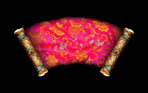 扇形 红色 彩色花纹 古典边框-古建瑰宝-古建瑰宝篇,古典边框