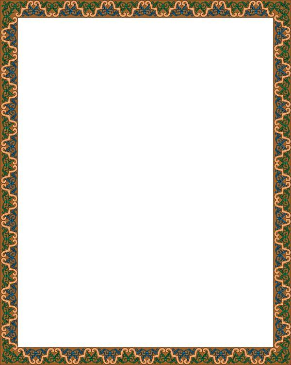 长方形树木边框花纹大全