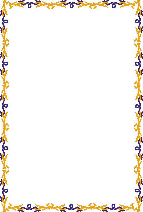 底纹背景-装饰边框