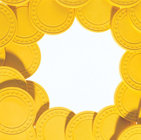 底纹背景-花式边框 圆形 银币 收藏