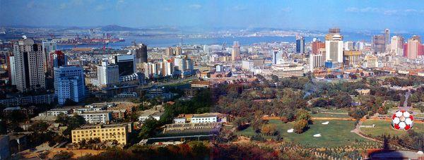 美丽的大连市区 大连 海港 城区,辽宁省图片-全